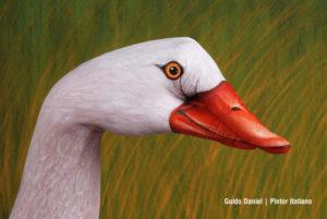 Artista manos pintadas animales