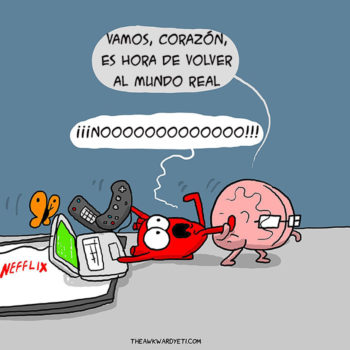 comic creativo cerebro vs corazon