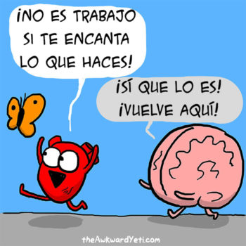 historieta creativo cerebro vs corazon