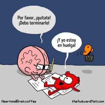 historieta creativo cerebro vs corazon