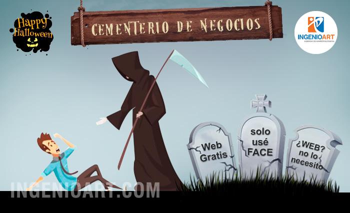 campaña publicitaria web halloween peru