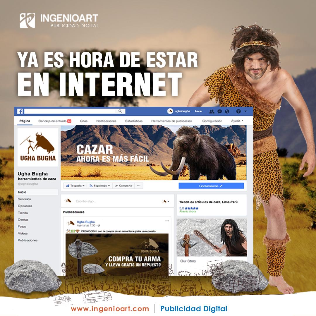 cavernicola publicidad facebook peru