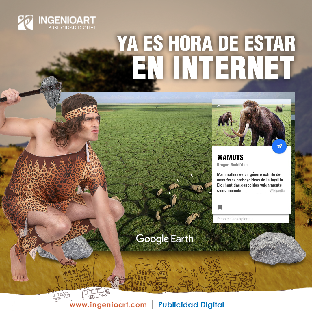 cavernicola Publicidad creativa para facebook peru