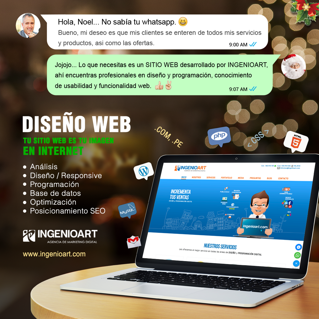 DESEO PAGINA WEB NAVIDAD