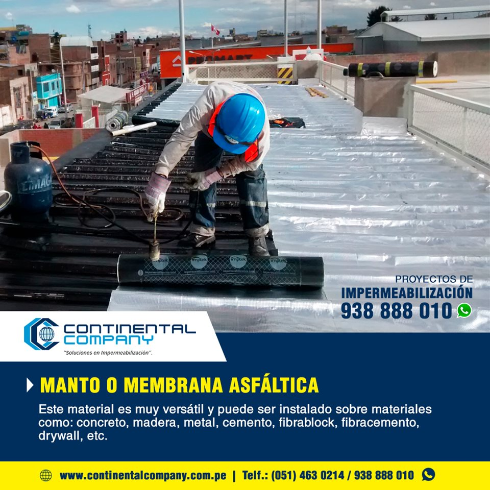 Manto Asfaltico Impermeabilizacion Peru