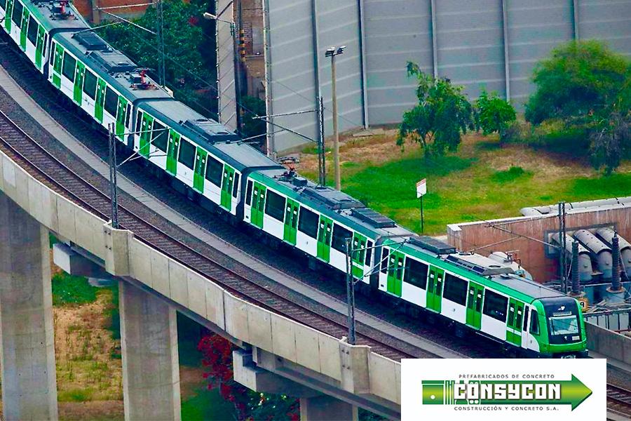 Prefabricado Concreto tren electrico peru