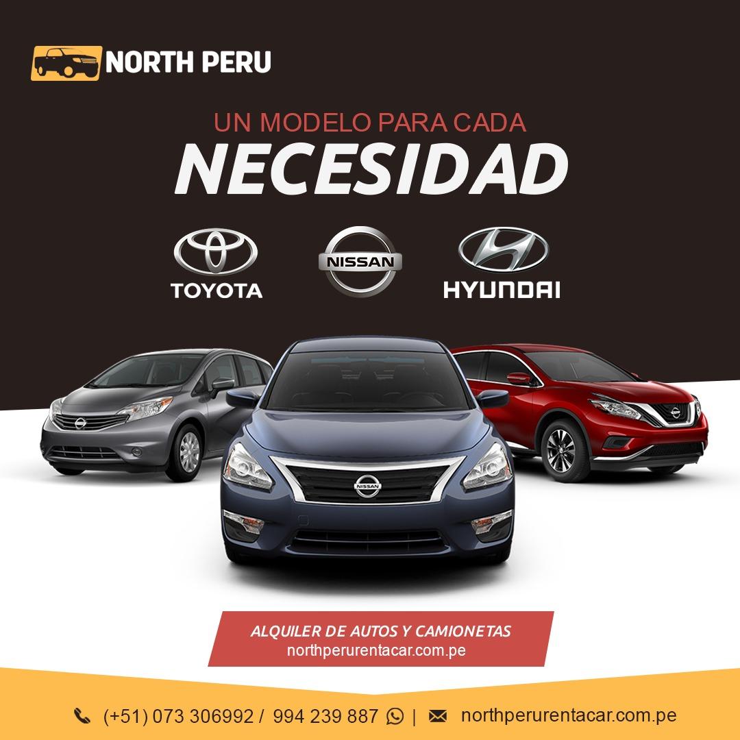 Alquiler de autos y camionetas equipados norte Peru turismo