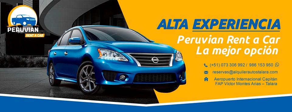Alquiler autos Talara Piura Peru