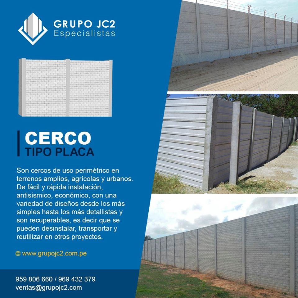 Instalación Cercos Prefabricados Concreto Lima