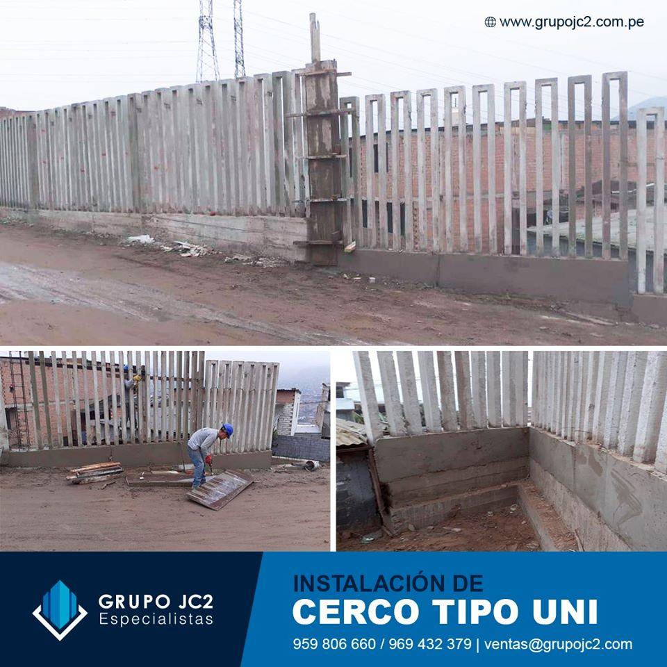 Instalacion Cerco Tipo Uni prefabricados