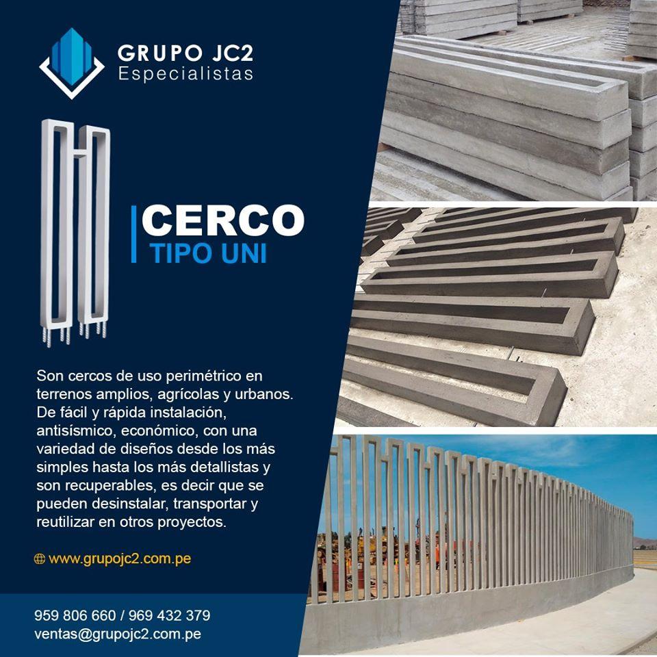 Prefabricados de concreto Tipo Uni
