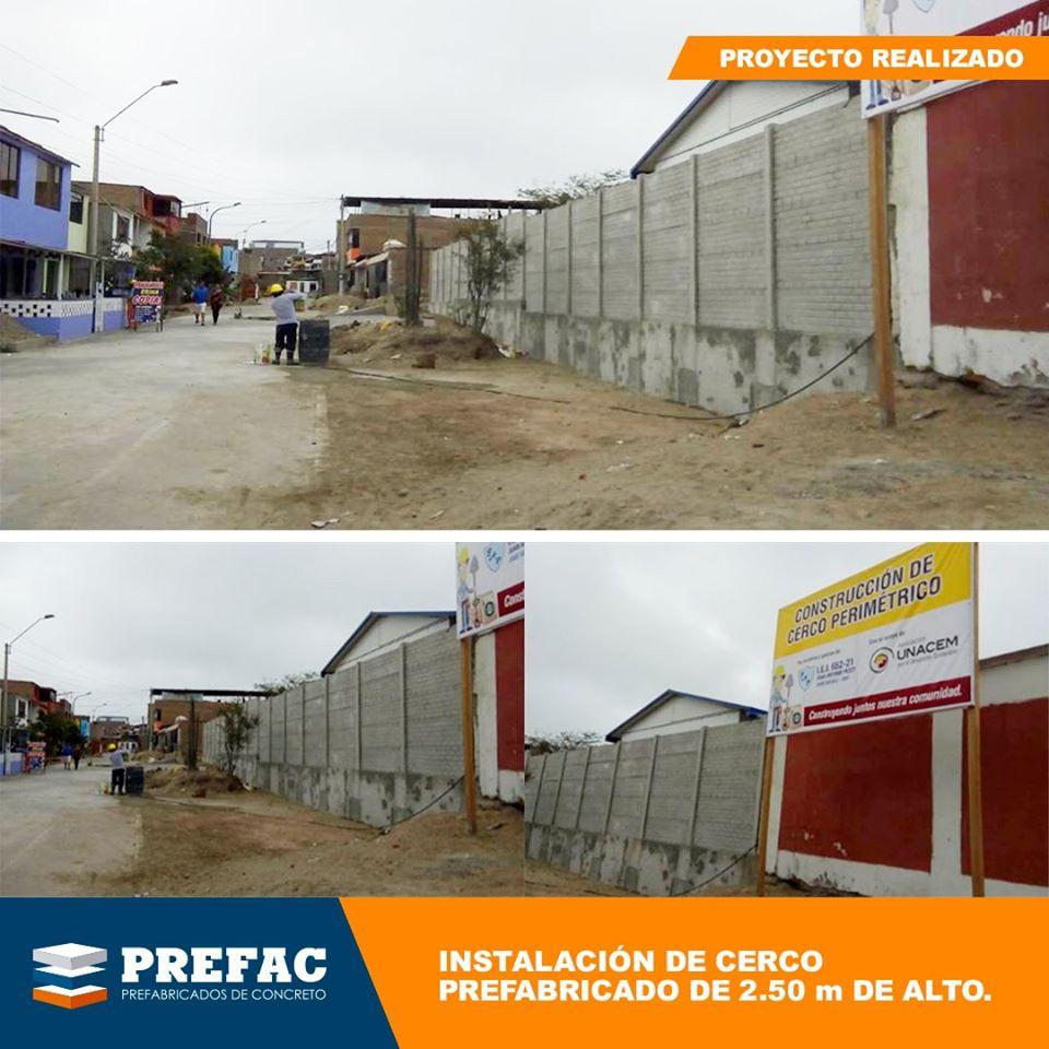 Instalación cercos prefabricados Lima Peru
