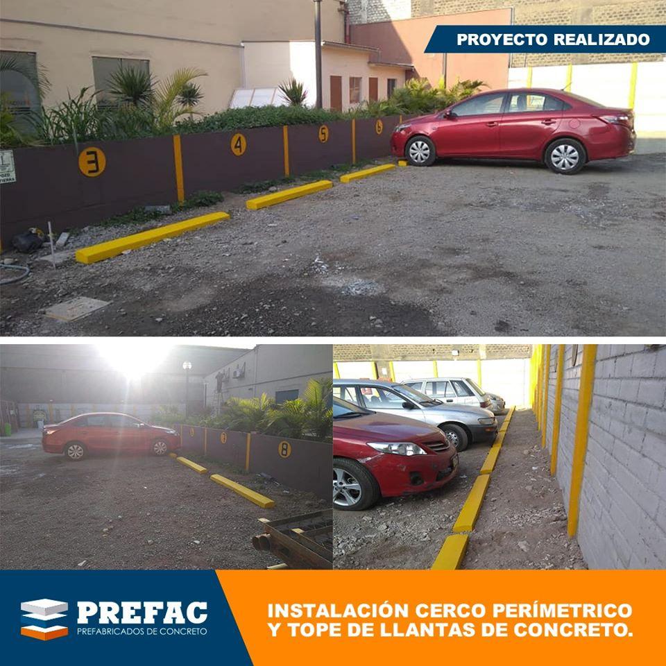 Obras prefabricados concreto estacionamientos peru