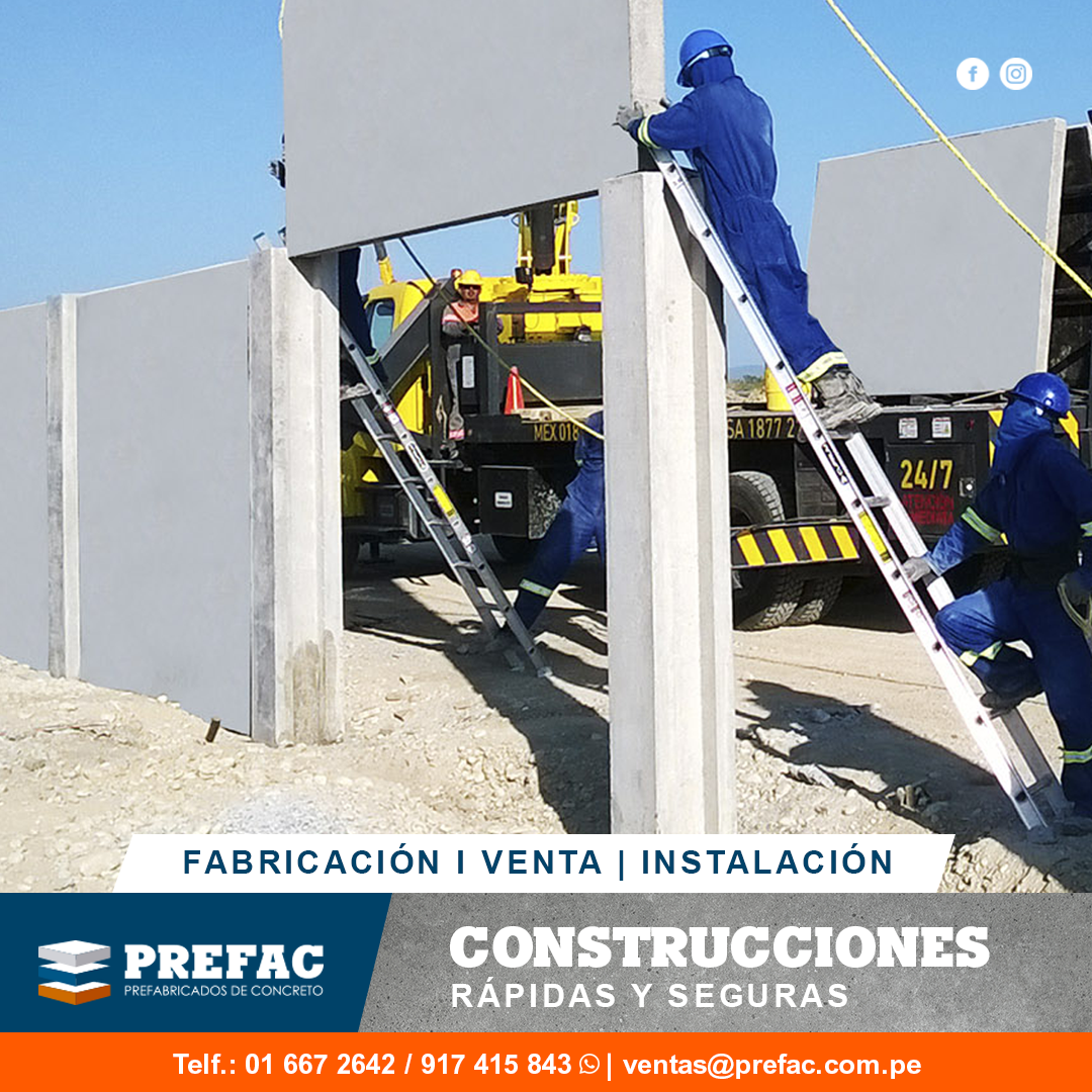 Prefabricados de concreto Lima